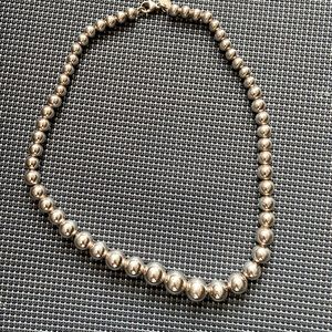 Tiffany & co silver bead necklace